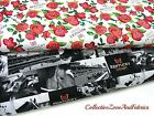 KENTUCKY DERBY FABRIC~2 DESIGNS~CHURCHILL DOWNS RACE TRACK & ROSES~BY THE YD
