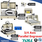 3/4 Axis 3040/6040 CNC ROUTER Engraving Cutter Drilling Milling Engraver Machine