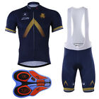 Men's Quick Dry Cycling Jersey Set Bike Bicycle Short Sleeve Jersey Bib Shorts