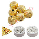 Hot Jewelry Diy Gold Silver Plated Ball Aluminum Spacers Beads 4/6/8mm