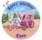 Personalised Barbie Edible Icing Topper 7.5in Precut Round Square Rectangle