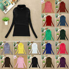 Women's Turtle Neck T Shirts Casual Soft Long Sleeve High Neck Warm Top & Shirts