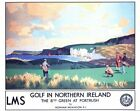 Vintage LMS Golf in Northern Ireland Portrush Railway Poster A3/A2/A1 Print