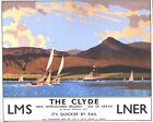 Vintage LMS LNER Isle of Arran Firth of Clyde Railway Poster A3/A2/A1 Print