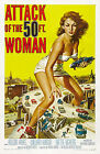 Attack Of The 50ft Woman B Movie Poster A3 / A2 Print