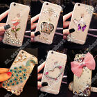 Hard &Soft Case Transparent TPU + PC Bling Cover Back Shell For iPhone 4 5 6 7