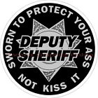 Sworn To Protect Your A$$ 7 Point Star Reflective Decal Sticker Police Sheriff