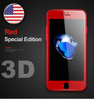 3D Red Full Cover Curved Films Tempered Glass Screen Protector For iphone 7 plus