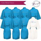 Personalised Satin robes,Bridal party Dressing Gowns Bride,Bridesmaid,wedding