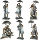 Rainy Day Romance Couple Figures Ornament Figurine Love Embrace Stroll Sitting