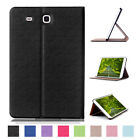 Slim Stand Folio Wallet Leather Hard Case Cover For Samsung Galaxy Tab E 8.0