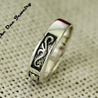 New Solid Sterling Silver Vintage Channel Design Lucky Mens Band Ring UK