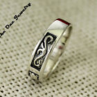 New! Solid Sterling Silver Vintage Channel Design Lucky Mens Band Ring UK