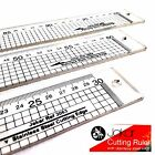 Jakar Clear Acrylic Cutting Ruler Stainless Steel Edge Transparent Rule Gide Cut