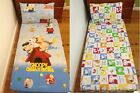 New White Snoopy and Woodstock Girls / Boys Baby Cot Fitted Sheet + Pillowcase