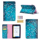 Folio Pattern PU Leather Card Wallet Cover Stand Case For Amazon Kindle Tablets