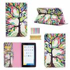 Folio Pattern PU Leather Card Wallet Cover Case For Kindle Fire 7 2015/HD 8 2017