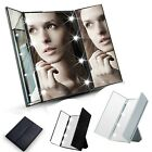 "10"" 8 LED Lights Makeup Mirror Touch Screen Lighted Foldable Cosmetic Mirror"