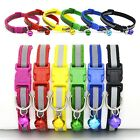 Pet Dog Puppy Cat Kitten Safety Buckle Soft Glossy Reflective Collar with Bell