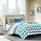 Comforter Sets For Teen Girls Twin XL Turquoise Aqua Blue Grey White Bedding