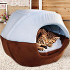 Folding Dog Cat Pet Bed House Sleep Cave Mat Warm Removable Cushion Deocration