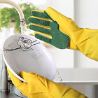 Dishwasher Scouring Pad Glove Latex Sponge Glove Kitchen Cleaning Double Effects