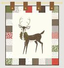 MERRILY Wall QUILT KIT - Moda Fabric + Quilt Pattern // Holiday Wallhanging