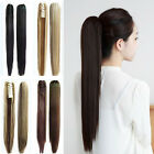 New Womens Straight Long Hair Extension Braids Ponytail Claw Clips in Hairpieces