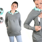 3 in1 Maternity & Nursing breastfeeding warm Hoddie Top Pullover