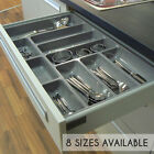 High Quality Plastic Cutlery Tray For Kitchen Drawers, Various Sizes/Formations