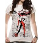 Harley Quinn - Comic Fitted T-shirt White Large Brand New