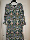 EUC   Madmazelle Multi Color Shift Dress Size Large Women's