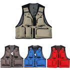 QW Mens Fishing Vest Safe Jacket Swimsuit Outdoor Multi-Bag 4 Colors
