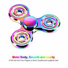 For Kids Adults Aluminum Alloy Fidget Hand Finger Tri Spinner Focus Stress Toys