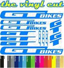 GT Bikes Die-cut decal sheet. (stickers, cycling, mtb, bmx, road, bike)