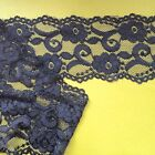 """Laces Galore"" Beautiful NAVY BLUE Soft Stretch Scalloped Lace 3.5""/9.5 cm Trim"