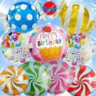 tiger print birthday cakes - HAPPY BIRTHDAY BALLOONS WONKA CANDIES SHOPKINS CAKE ANIMAL NUMBER PARTY SUPPLY B