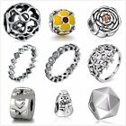 Fashion 925 Silver European Charm Bead Ring Fit Sterling Bracelet Snake Chain US