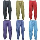 Nepalese Cotton Trousers Pants Striped Gringo Loose Light Hippy Elastic Cargo
