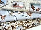 WESTERN COWBOY UP FABRIC~BY THE 1/2 YD~3 SELECTIONS~RODEO~SADDLES~MICHAEL MILLER