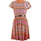 Girls Neon Aztec Print Skater Dress Sizes / Ages: 7-8 and 13 Years