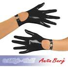 Anita Berg - Short Latex Gloves with Strap in Various Colours