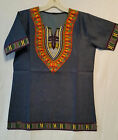 Men Women With African Traditional Dashiki Print Denim Top Shirt S M L XL P 03