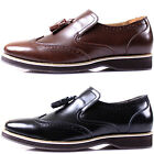 New Polytec Men Leather Formal Dress Casual Tassel Loafers Trend Shoes