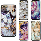 Colorful Granite Marble Pattern Plastic Hard Phone Case Cover For iPhone Samsung