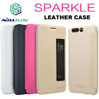 For Huawei P10 Plus Nillkin Sparkle Leather Flip View Window Smart Cover Case