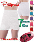 NEW POLY-COTTON RUFFLED LACE SISSY PETTIPANT BLOOMER MALCO MODES N29 DANCE