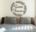 Sweet Dreams Wall Decal Quotes Wall Art Family Decals Rusric Home Decor Baby S80
