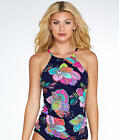 Anne Cole Signature Cactus Flower High Neck Wire-Free Tankini Top - Women's