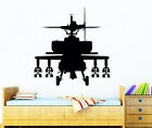 Airliner Wall Decal Helicopter Decals Nursery Vinyl Stickers Boy Room Decor Chu687